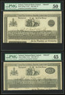 Ireland National Bank Limited Lot Of Four PMG Graded Complete And Incomplete Proofs. 3 Pounds 3.1.1893 Pick A56Ap PMG About Uncirculated 50, previousl...