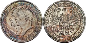 "Prussia. Wilhelm II ""Breslau University"" 3 Mark 1911-A MS66+ PCGS, Berlin mint, KM531, J-108. Preeminent in terms of certified technical quality and v..."
