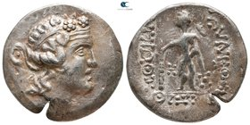 Lower Danube. Imitations of Thasos circa 120-0 BC. Tetradrachm AR
