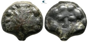 Sicily. Selinus circa 450-440 BC. Cast Æ Trias or Tetronkion