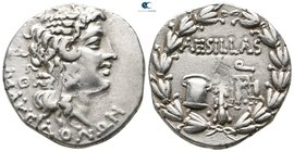 Macedon. As Roman Province. Thessalonika. Aesillas, quaestor 95-70 BC. Tetradrachm AR