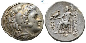 Kings of Macedon. Amphipolis. Antigonos II Gonatas 277-239 BC. In the name and types of Alexander III. Struck circa 275-272/1 BC. Tetradrachm AR