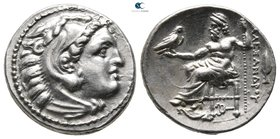 "Kings of Macedon. Kolophon. Alexander III ""the Great"" 336-323 BC. Struck under Philip III, circa 322-319 BC. Drachm AR"