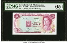 Bermuda Monetary Authority 5 Dollars 1.4.1978 Pick 29a PMG Gem Uncirculated 65 EPQ.   HID09801242017