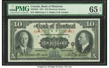 Canada Bank of Montreal $10 2.1.1931 Ch.# 505-58-04 PMG Gem Uncirculated 65 EPQ.   HID09801242017