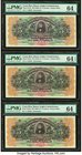 Costa Rica Banco Anglo Costarricense 5 Colones 1.1.1919 Pick S122r Three Remainder Examples PMG Choice Uncirculated 64 (2); Choice Uncirculated 64 EPQ...