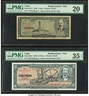 Cuba Banco Nacional de Cuba 1; 10 Pesos 1958; 1960 Pick 87c*; 88c* Two Replacement Issues PMG Very Fine 20; Choice Very Fine 35 EPQ.   HID09801242017