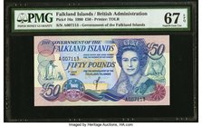 Falkland Islands Government of the Falkland Islands 50 Pounds 1.7.1990 Pick 16a PMG Superb Gem Unc 67 EPQ.   HID09801242017