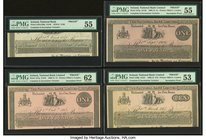 Ireland National Bank Limited Lot Of Four Complete And Incomplete Proofs. 1 Pound 1.9.1906; 1.10.1913 Pick A57p Two Examples PMG About Uncirculated 55...