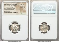 MACEDONIAN KINGDOM. Alexander III the Great (336-323 BC). AR drachm (17mm, 4.30 gm, 2h). NGC Choice AU 5/5 - 3/5. Early posthumous issue of 'Colophon'...