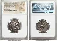 MACEDONIAN KINGDOM. Philip III Arrhidaeus (323-317 BC). AR tetradrachm (24mm, 17.02 gm, 2h). NGC VF 5/5 - 3/5, marks. Sardes, ca. 323-319 BC. Head of ...