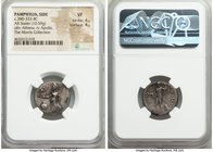 PAMPHYLIA. Side. Ca. 380-333 BC. AR stater (20mm, 10.59 gm, 12h). NGC VF 4/5 - 4/5. Athena standing left, Nike in right hand, left hand on grounded sh...
