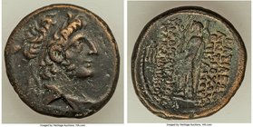 SELEUCID KINGDOM. Antiochus XII (88-84 BC), AE (21mm, 8.02 gm, 12h). VF. Damascus, 83/2 BC. Diademed and draped bust right / ΒΑΣΙΛΕΩΣ / ANTIOXOY / EΠΙ...
