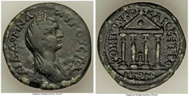 PONTUS. Neocaesarea. Julia Domna (AD 193-217). AE (30mm, 13.45 gm, 2h). About XF. Dated Civic Year 146 (AD 209/10). IOYΛIA ΔOMNA-AYΓOYCTA, veiled, dra...