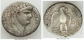 SYRIA. Antioch. Nero (AD 54-68). AR tetradrachm (25mm, 11.54 gm, 12h). VF. Dated Regnal Year 9 and Year 111 of the Caesarean Era (AD 62/3). NERΩN KAIΣ...