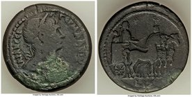 EGYPT. Alexandria. Trajan (AD 98-117). AE drachm (33mm, 21.53 gm, 12h). VF. Dated Regnal Year 17 (AD 113/4). AVT T-PAIAN CEB-ΓEPM ΔAKIK, laureate head...