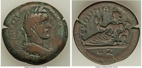 EGYPT. Alexandria. Antoninus Pius (AD 138-161). AE drachm (33mm, 22.64 gm, 1h). VF. Dated Regnal Year 7 (AD 143/4). ΑVΤ Κ Τ ΑΙΛ ΑΔΡ-ΑΝΤωΝΙΝΟС СЄΒ ЄVС,...