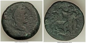 EGYPT. Alexandria. Antoninus Pius (AD 138-161). AE drachm (33mm, 22.63 gm, 2h). Fine. Dated Regnal Year 10 (AD 146/7). Laureate head of Antoninus Pius...
