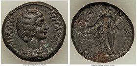 EGYPT. Alexandria. Julia Domna (AD 193-217). BI tetradrachm (23mm, 11.83 gm, 10h). VF. Dated Regnal Year 4 of Septimius Severus (AD 193/4). IOΥΛΙΑ ΔΟ-...