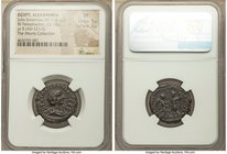 EGYPT. Alexandria. Julia Soaemias (AD 218-222). BI tetradrachm (23mm, 12.14 gm, 12h). NGC VF 5/5 - 2/5. Dated Regnal Year 5 of Elagabalus (AD 221/2). ...