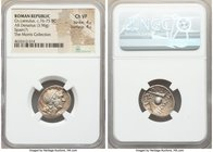 Cn. Cornelius Lentulus (ca. 76-75 BC). AR denarius (19mm, 3.96 gm, 10h). NGC Choice VF 4/5 - 4/5. Uncertain mint in Spain. G•P•R, diademed and draped ...