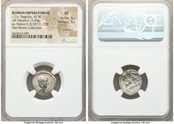 L. Livineius Regulus (42 BC). AR denarius (17mm, 3.69 gm, 11h). NGC XF 4/5 - 3/5, scratch. Rome. Bare head of the praetor L. Livineius Regulus right /...