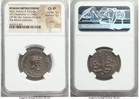 Marc Antony, as Triumvir and Imperator (43-30 BC), with Octavia. AR cistophorus (26mm, 11.54 gm, 12h). NGC Choice XF 5/5 - 2/5, marks. Ephesus, summer...