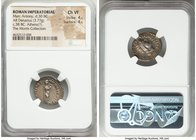 Marc Antony, as Triumvir and Imperator (43-30 BC). AR denarius (19mm, 3.77 gm, 4h). NGC Choice VF 4/5 - 4/5. Athens, 38/7 BC. M•ANTONIVS•M•F•-M•N•AVGV...