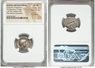Octavian, as Triumvir (43-32 BC). AR denarius (18mm, 3.92 gm, 5h). NGC Choice VF 4/5 - 3/5, scratches. Southern or central Italian mint, spring-early ...