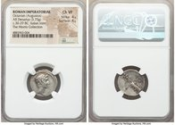 Octavian, as Sole Imperator (31-27 BC). AR denarius (19mm, 3.75 gm, 10h). NGC Choice VF 4/5 - 4/5. Southern or central Italian mint, ca. 30-29 BC. Lau...