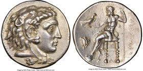 MACEDONIAN KINGDOM. Alexander III the Great (336-323 BC). AR tetradrachm (26mm, 16.34 gm, 11h). NGC AU 5/5 - 2/5, Fine Style, scratches. Early Ptolema...