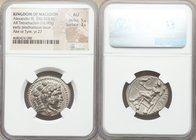 MACEDONIAN KINGDOM. Alexander III the Great (336-323 BC). AR tetradrachm (26mm, 16.90 gm, 2h). NGC AU 5/5 - 3/5. Posthumous issue of Ake or Tyre, date...