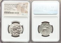 MACEDONIAN KINGDOM. Alexander III the Great (336-323 BC). AR tetradrachm (26mm, 17.03 gm, 1h). NGC AU 4/5 - 3/5. Late lifetime or early posthumous iss...