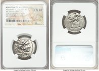 MACEDONIAN KINGDOM. Alexander III the Great (336-323 BC). AR tetradrachm (27mm, 5h). NGC Choice XF. Lifetime or early posthumous issue of Tyre, by Lao...
