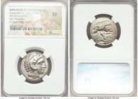 MACEDONIAN KINGDOM. Alexander III the Great (336-323 BC). AR tetradrachm (24mm, 2h). NGC XF. Lifetime issue of 'Amphipolis', under Antipater, ca. 332-...
