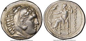 MACEDONIAN KINGDOM. Alexander III the Great (336-323 BC). AR tetradrachm (17.21 gm, 1h). NGC Choice VF 5/5 - 3/5, edge scuff. Early posthumous issue o...
