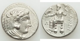 MACEDONIAN KINGDOM. Alexander III the Great (336-323 BC). AR tetradrachm (24mm, 16.68 gm, 1h). XF. Posthumous issue of Aradus, by Ptolemy I Soter, as ...