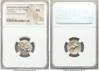 MACEDONIAN KINGDOM. Alexander III the Great (336-323 BC). AR drachm (18mm, 2h). NGC AU. Posthumous issue of Miletus ca. 295/0-275/0 BC. Head of Heracl...
