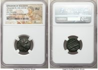 MACEDONIAN KINGDOM. Alexander III the Great (336-323 BC). AE unit (18mm, 11h). NGC AU. Lifetime issue of uncertain mint in Macedon. Head of Heracles r...