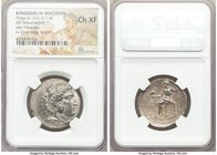 MACEDONIAN KINGDOM. Philip III Arrhidaeus (323-317 BC). AR tetradrachm (27mm, 12h). NGC Choice XF. Lifetime issue of Sidon, under Ptolemy I Soter as S...