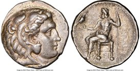 MACEDONIAN KINGDOM. Philip III Arrhidaeus (323-317 BC). AR tetradrachm (26mm, 17.16 gm, 12h). NGC Choice VF 5/5 - 4/5. Sidon, dated Regnal Year 13 of ...
