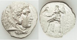 MACEDONIAN KINGDOM. Philip III Arrhidaeus (323-317 BC). AR tetradrachm (26mm, 16.37 gm, 12h). XF, roughness. Lifetime issue of Sidon, under Ptolemy I ...