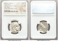 ATTICA. Athens. Ca. 440-404 BC. AR tetradrachm (22mm, 17.20 gm, 10h). NGC MS 4/5 - 5/5. Mid-mass coinage issue. Head of Athena right, wearing crested ...
