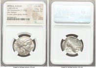 ATTICA. Athens. Ca. 440-404 BC. AR tetradrachm (26mm, 17.22 gm, 9h). NGC Choice AU 5/5 - 4/5. Mid-mass coinage issue. Head of Athena right, wearing cr...