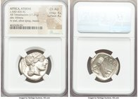 ATTICA. Athens. Ca. 440-404 BC. AR tetradrachm (25mm, 17.21 gm, 10h). NGC Choice AU 4/5 - 4/5. Mid-mass coinage issue. Head of Athena right, wearing c...