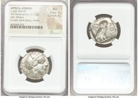 ATTICA. Athens. Ca. 440-404 BC. AR tetradrachm (25mm, 17.13 gm, 5h). NGC AU 5/5 - 4/5. Mid-mass coinage issue. Head of Athena right, wearing crested A...