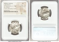 ATTICA. Athens. Ca. 440-404 BC. AR tetradrachm (21mm, 17.15 gm, 7h). NGC AU 4/5 - 4/5. Mid-mass coinage issue. Head of Athena right, wearing crested A...