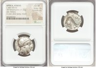 ATTICA. Athens. Ca. 440-404 BC. AR tetradrachm (22mm, 17.22 gm, 4h). NGC Choice XF 4/5 - 4/5. Mid-mass coinage issue. Head of Athena right, wearing cr...