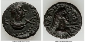 BOSPORAN KINGDOM. Rhescuporis V (AD 314-343) AE (19mm, 4.98 gm, 10h). XF, lt. smoothing, repatinated. Dated AD 323/4. BACIΛEWC PICKOYΠOPIC, draped bus...