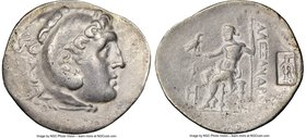 LYCIA. Phaselis. Ca. 218-185 BC. AR tetradrachm (34mm, 16.07 gm, 12h). NGC VF 5/5 - 3/5, countermark. Late posthumous issue in the name and types of A...